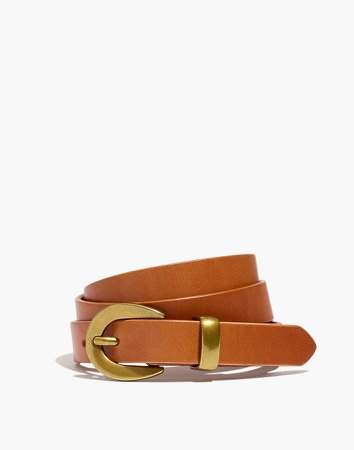 Chunky Buckle Skinny Leather Belt