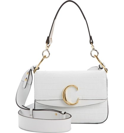 Chloé Croc Embossed Leather Shoulder Bag | Nordstrom