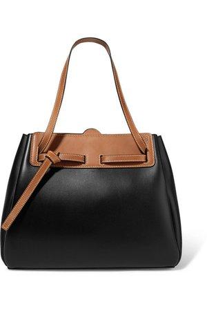 Loewe | Lazo two-tone leather tote | NET-A-PORTER.COM