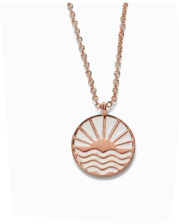 rose gold sunset necklace