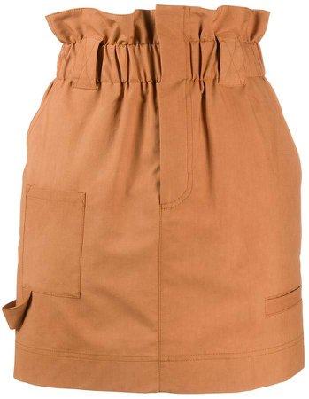 Paperbag-Waist Mini Skirt