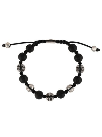 Black Nialaya Jewelry corded beaded bracelet - Farfetch