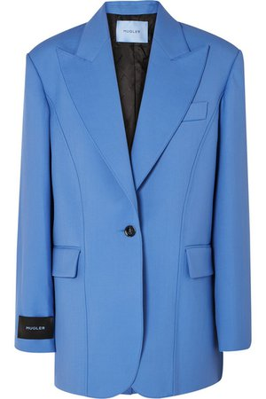 Mugler | Oversized grain de poudre wool blazer | NET-A-PORTER.COM