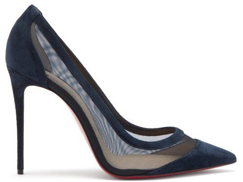 Galativi 100 Mesh And Suede Pumps - Navy