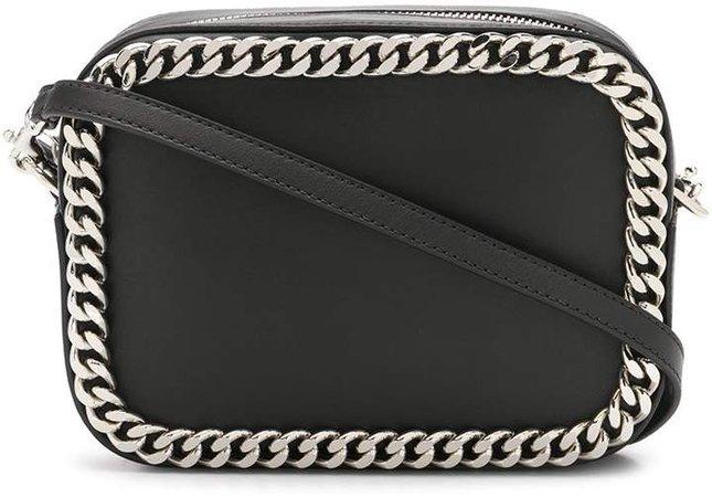 chain embellished shoulder bag