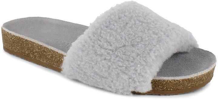 Romy Faux Shearling Slide Sandal