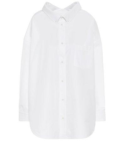 Balenciaga, Swing oversized cotton-poplin shirt