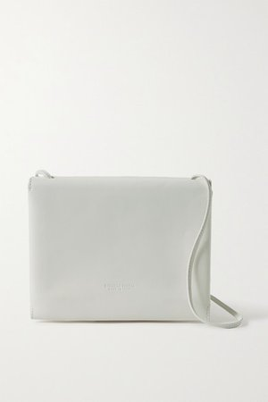 Trio Leather Shoulder Bag - White