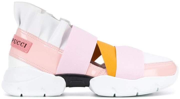 colour block slip-on sneakers