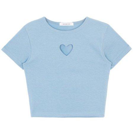 pastel blue heart shirt