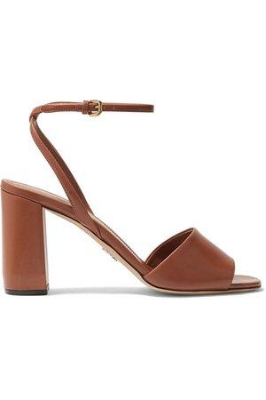 Prada | 85 leather sandals | NET-A-PORTER.COM