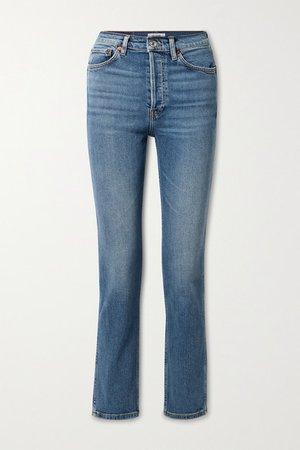 80s High-rise Slim-leg Jeans - Blue