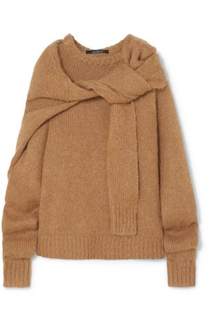 Rokh   Tie-front knitted sweater   NET-A-PORTER.COM