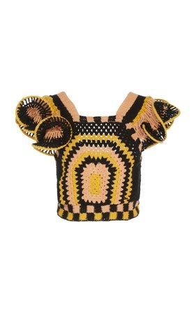 Caia Crocheted Cotton Top by Ulla Johnson   Moda Operandi