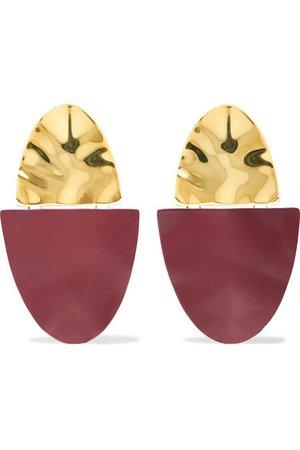 Nausheen Shah x Monica Sordo | Shah coated gold-plated earrings | NET-A-PORTER.COM