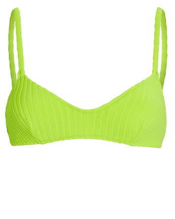 Solid & Striped Rachel Ribbed Bikini Top | INTERMIX®