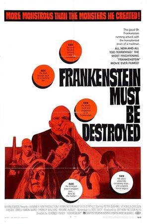 1969 - Frankenstein Must Be Destroyed