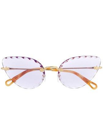 Chloé Eyewear Rosie cat-eye Frame Sunglasses - Farfetch