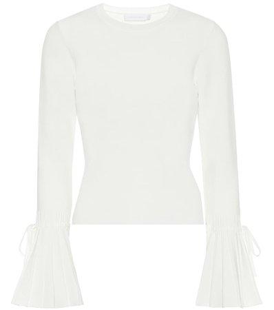 Jonathan Simkhai, Iris cotton-blend knit top