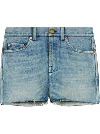 Gucci Denim Shorts With Patches - Farfetch
