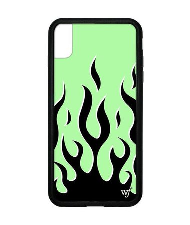 green flames wildflower phone case