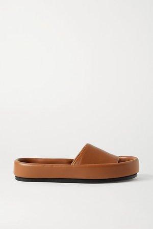 Venice Leather Slides - Tan