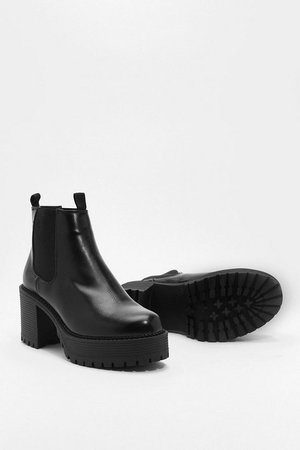Aim High Platform Chelsea Boots | Nasty Gal