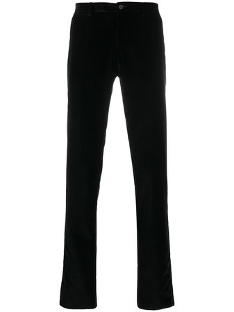 Shop Dolce & Gabbana velvet skinny trousers with Express Delivery - FARFETCH