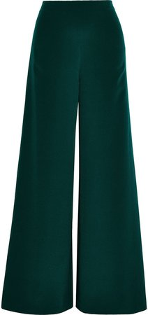 Silk-crepe Wide-leg Pants
