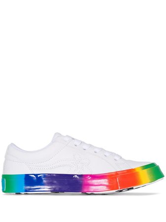 Converse X Golf Le Fleur Rainbow Sole Sneakers   Farfetch.com