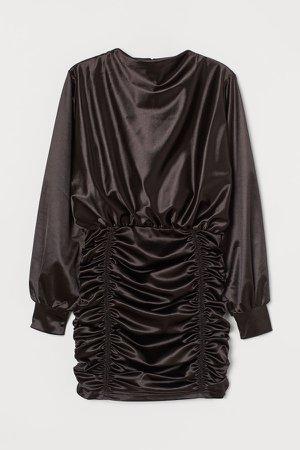 Draped Dress - Black