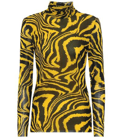 Exclusive To Mytheresa – Animal-Print Turtleneck Top | Ganni - Mytheresa
