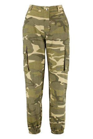 Camo Cargo Pants | Boohoo