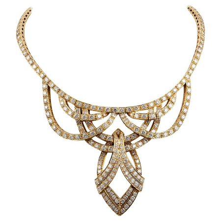 Graff Diamond Gold Necklace For Sale at 1stDibs