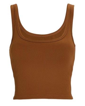 Nylora Cropped Rib Knit Tank | INTERMIX®
