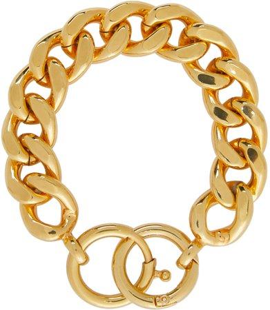 MM6 Maison Margiela, Gold Chunky Curb Chain Bracelet