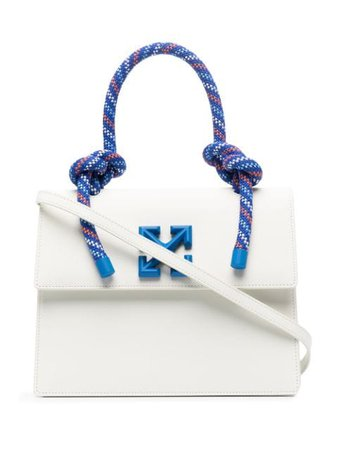 Shop white Off-White 2.8 Gummy Jitney tote bag with Express Delivery - Farfetch
