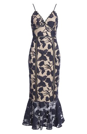 Lulus Dream Floral Mesh Midi Dress | Nordstrom
