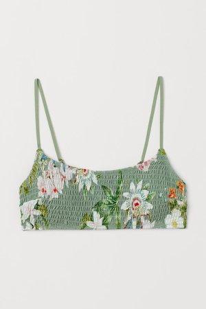 Padded Bikini Top - Green/floral - Ladies | H&M US