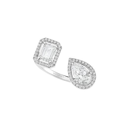 Twin Toi & Moi diamond ring
