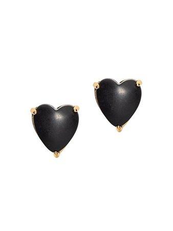 Lele Sadoughi Jet Ashford Heart Stud Earrings | SaksFifthAvenue