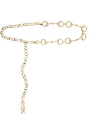 Gucci | Horsebit gold-tone belt | NET-A-PORTER.COM