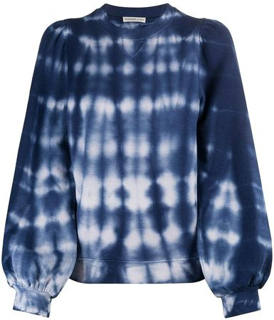 tie-dye balloon-sleeved sweatshirt