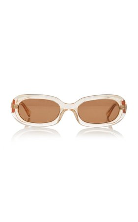Retta Oval-Frame Tortoiseshell Acetate Sunglasses by POMS | Moda Operandi