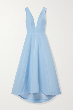 Tulle-trimmed Silk-taffeta Gown - Sky blue