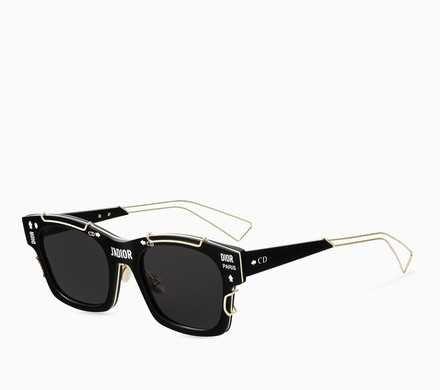 """J'adior"" sunglasses, black and gold-tone - Dior"