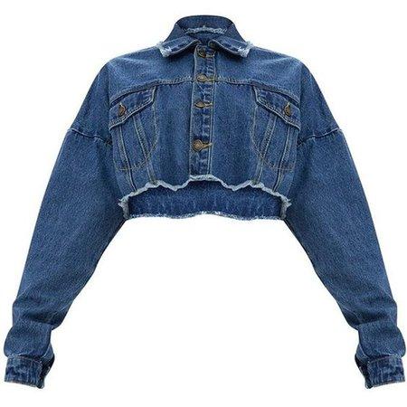Dark Wash Cropped Denim Jacket