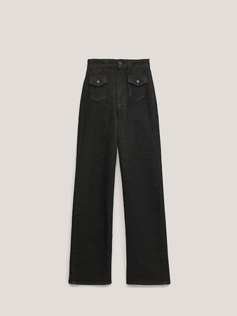 Τζιν παντελόνι straight fit με λεπτομέρεια τσέπες - Mulher - Massimo Dutti