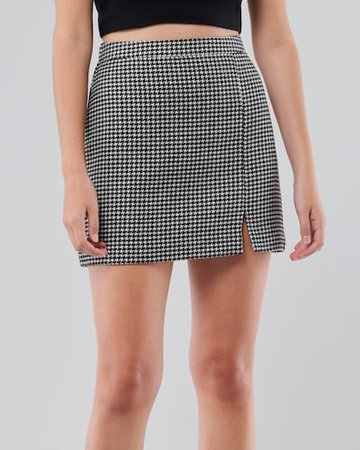 plaid mini skirt hollister