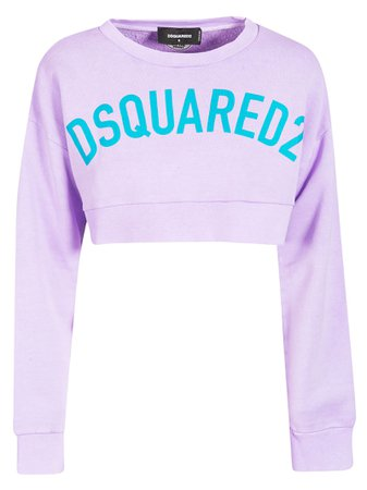 Dsquared2 Logo Print Cropped T-shirt
